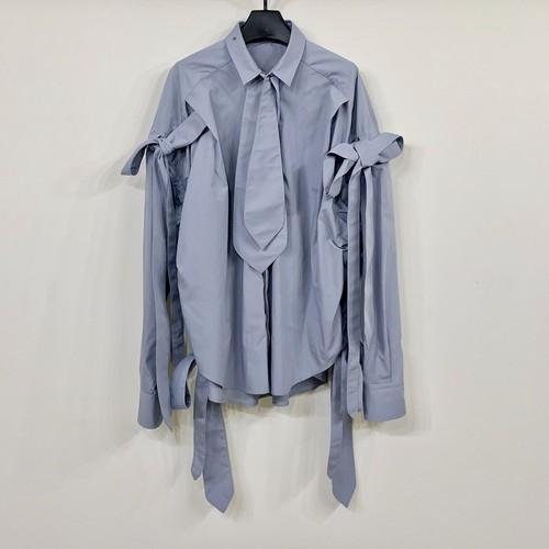 Re:quaL≡ リコール neck-tai ribbon shirt ネクタイ リボン シャツ メンズ