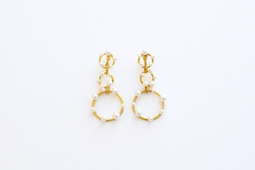【Hiver】イヴェール イヤリング mat gold(S1827)