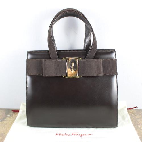 .Salvatore Ferragamo VARA LEATHER HAND BAG ITALY/サルヴァトーレフェラガモヴァラレザーハンドバッグ 2000000046198