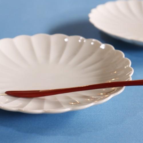 キクリンカ5寸皿(白)