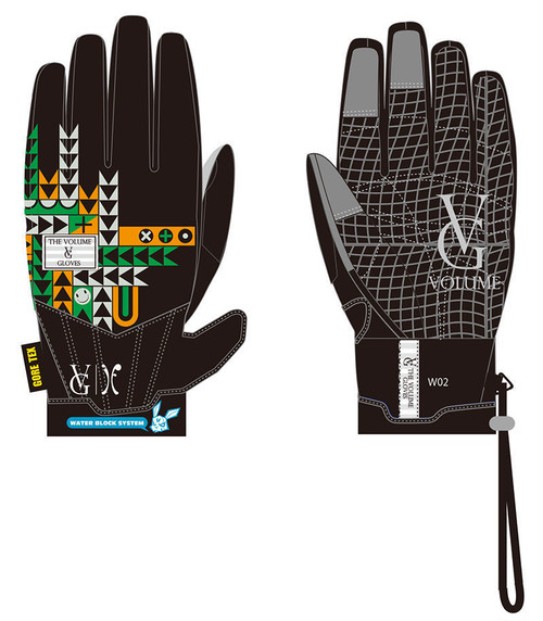 SALE50%OFF!!13-14モデル VOLUME GLOVES 別注モデル 4店舗限定 MANIFESTO WATER PROOF I FOUND (GORE-TEX) カラー BLACK x BLACK I FOUND PRINT