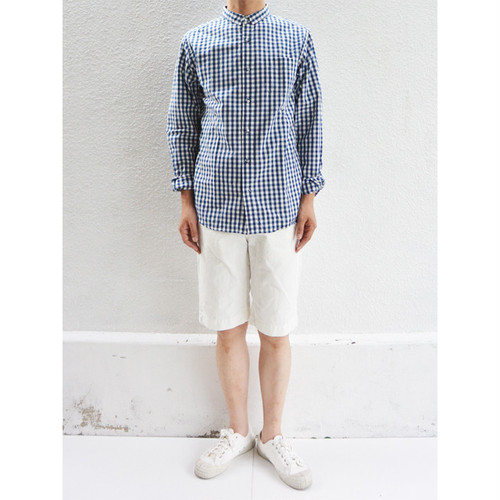 【SALE】have a good day Basic Gingham Check shirts NAVY