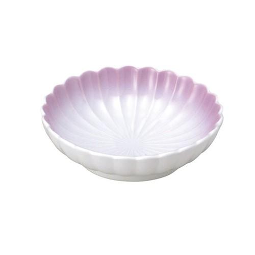 【2054-2750】菊型丸皿(11.5cm) 可愛いカタチの小皿 ぼかし紫