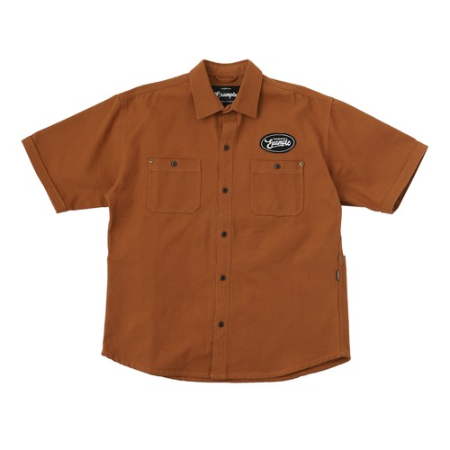 EXAMPLE DUCK 5POCKET S/S SHIRTS / BROWN