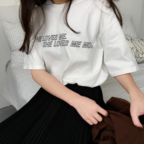 【即納】logo round-neck shirt 5559