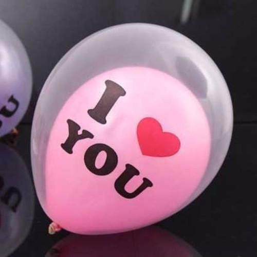 【即納】☆10個入 I LOVE YOUバルーンインバルーン 2色