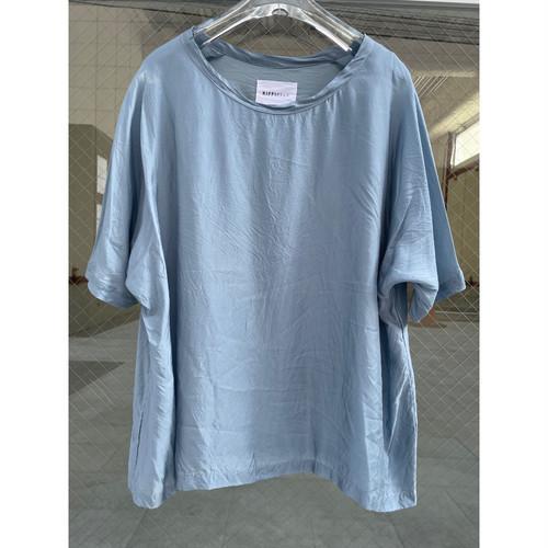 【hippiness】cupro wide Tshirt (blue gray)/【ヒッピネス】キュプラ ワイド Tシャツ(ブルー グレー)