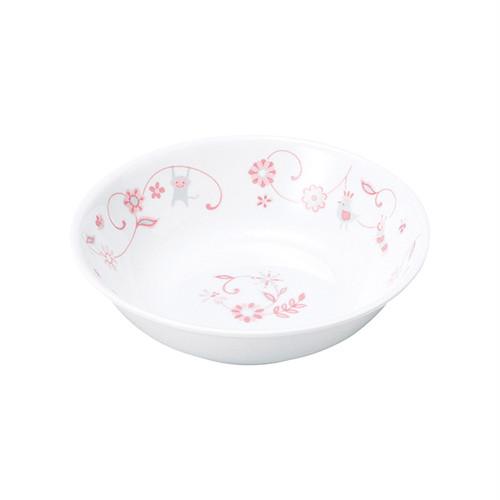 強化磁器 深小皿 サラサ・ピンク 【1159-1310】