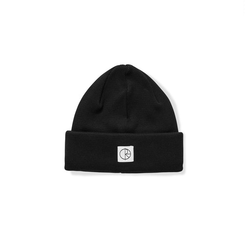 POLAR SKATE CO / DOUBLE FOLD COTTON BEANIE -BLACK-