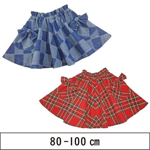 4枚はぎ ふんわりフレアスカート 80-100