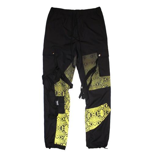 ROGIC Python Nylon Bontage Pants BLACK × YELLOW GRADATON