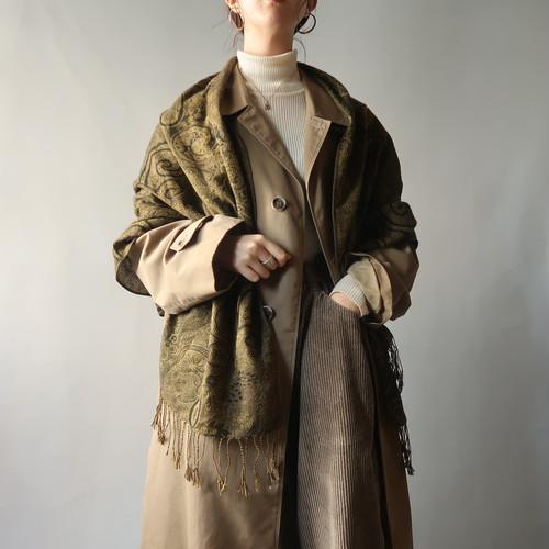 Vintage shawl / grass green