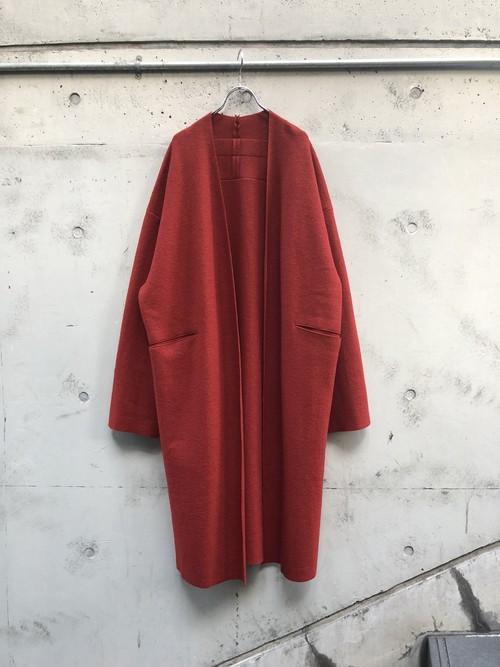 【VOAAOV】 wool long cardigan「RED」