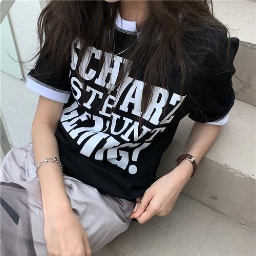 バイカラーアシメTシャツ RD8587