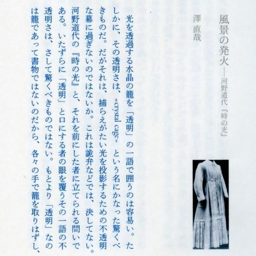spira/cc 02 澤直哉 「風景の発火──河野道代『時の光』」 紙本版