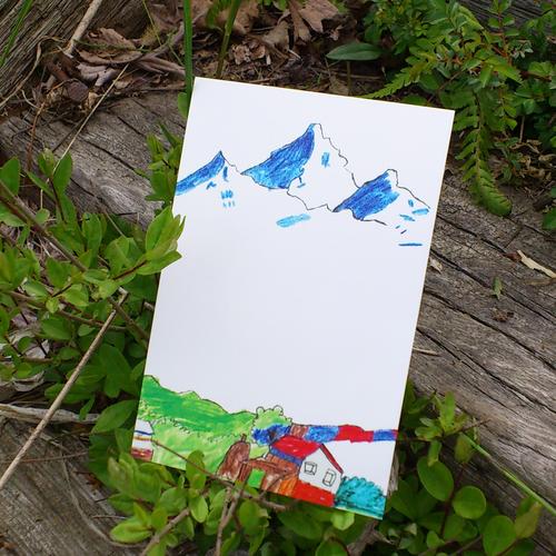 山と家 ポストカード