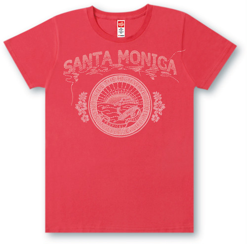 #465 Tシャツ SANTA MONICA/RED