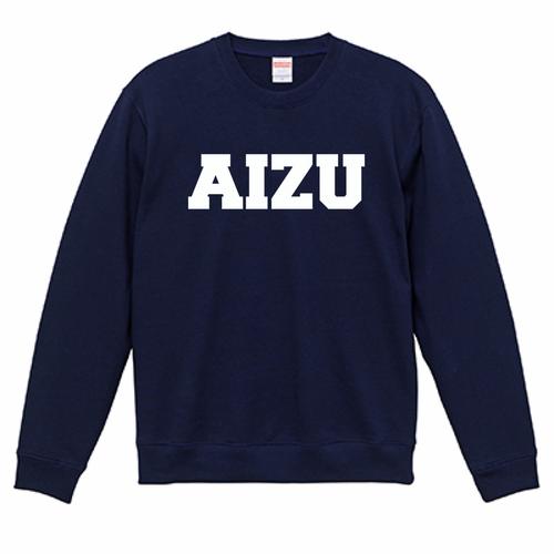AIZU-クルーネック スウェット BASIC/ネイビー
