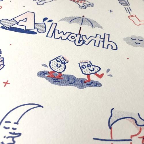 "Alwayth ""Print, Illustrated by LURK"" [送料無料]"