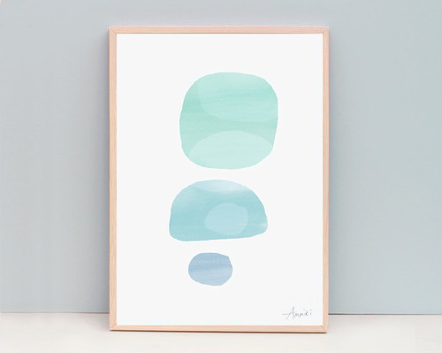 Seafoam / A4 Abstract Painting