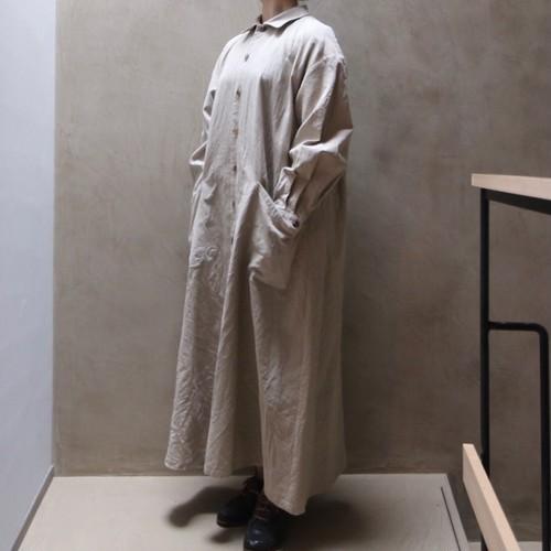 YAECA / ヤエカ WRITE ワークシャツドレス natural
