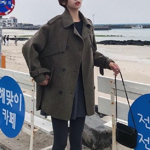売れ筋 おすすめ 冬 コート ジャケット ミディアム丈 シンプル きれいめ ピーコート カジュアル モノトーン ラフ