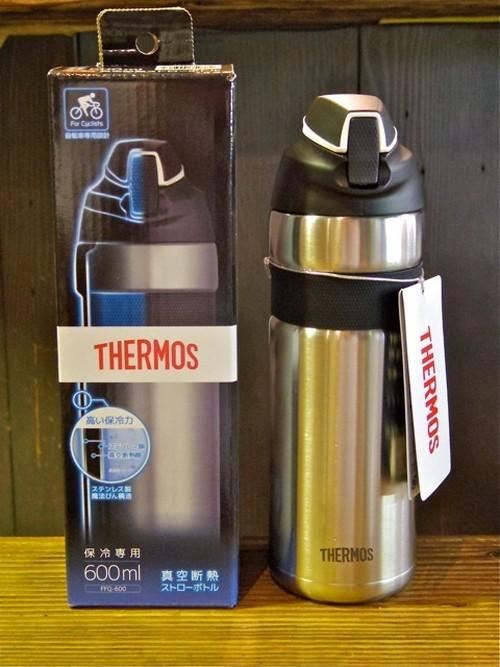 THERMOS (サーモス) 真空断熱ストローボトル FFQ-600 ブラック