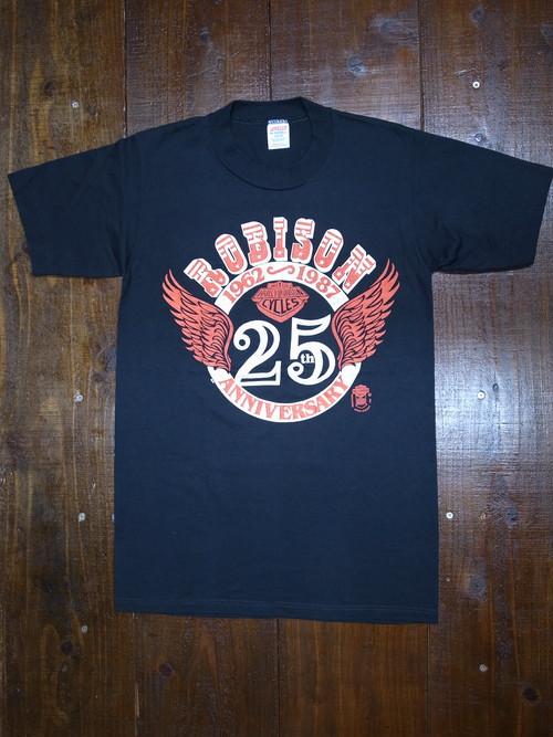 80's JERZEES Harley-Davidson 1987 ROBISON 25周年アニバーサリー T-Shirts(黒)DEAD STOCK ㉒