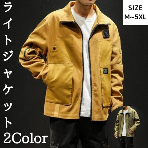 スイングトップ メンズ ライトジャケット アウター ジャケット 配色切り替え ジップアップ かっこいい 秋服 ブルゾン