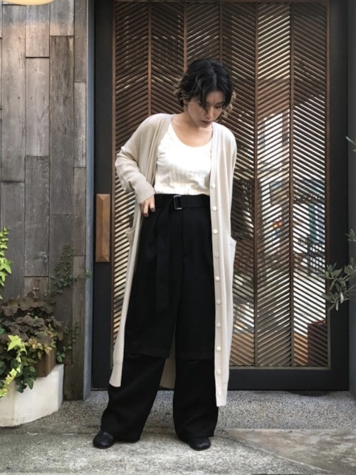 【20AW】 INSCRIRE アンスクリア / Cashmere Long cardigan