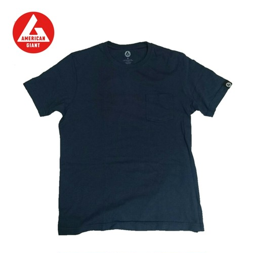 AMERICAN GIANT Heavyweight Pocket T-Shirt NAVY