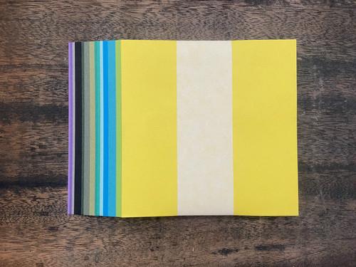 【涼風の季節限定色】:100枚セット 紋切り用紙 和紙折り紙(15cm)