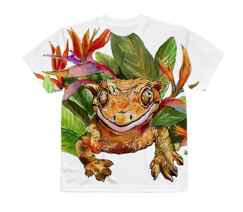クレステッドゲッコー(フルグラフィック)Tシャツ Made in Japan 日本サイズ