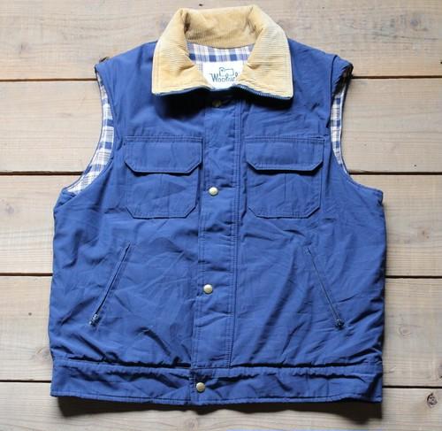 (Fn2319) Woolrich ベストジャケット ブランケット付き ネイビー