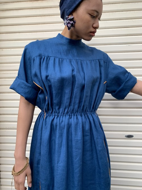 Indigo Nurse dress