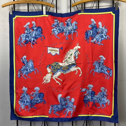 HERMES CARRE90 SILK SCARF CARROUSEL MADE IN FRANCE/エルメスカレ90シルク100%スカーフ(メリーゴーランド )