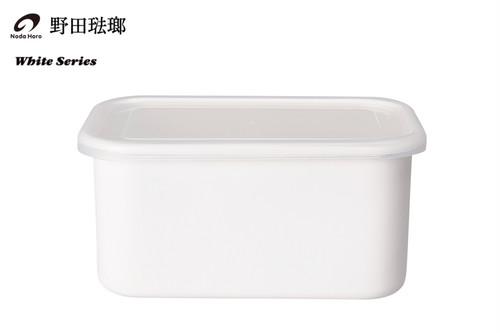 【野田琺瑯】ホワイトシリーズ / レクタングル深型 L L(シール蓋付)