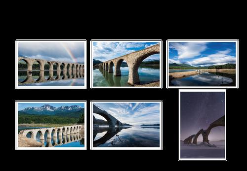 タウシュベツ川橋梁ポストカード