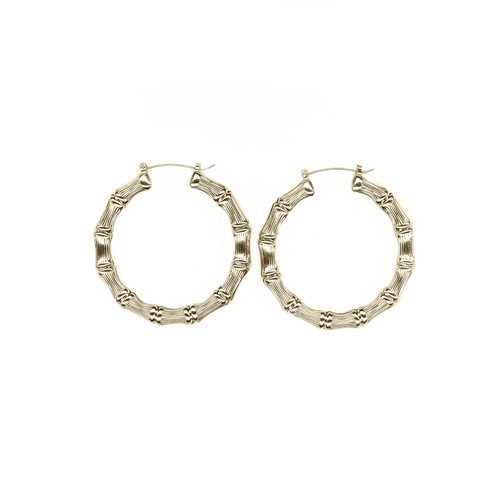 【GF-2-5】Gold Filled Big Bamboo earring