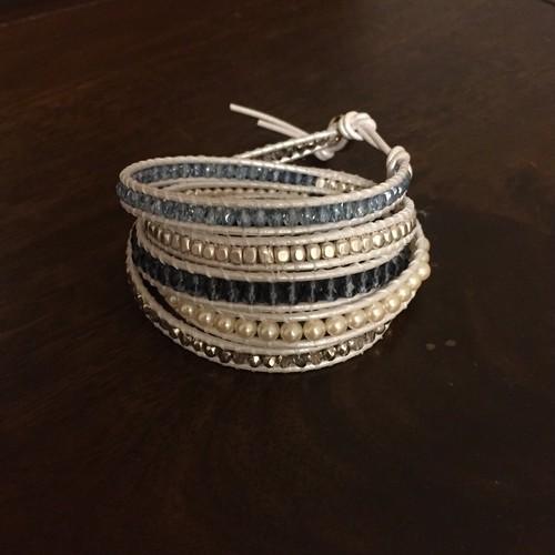 チャンルー風ブレスレッド/White&Blue