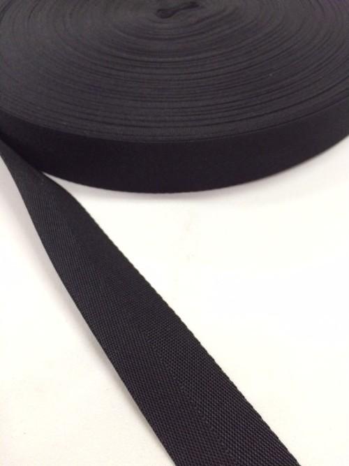 ナイロン 杉綾織(綾テープ) 25mm幅 黒/カラー 1mカット
