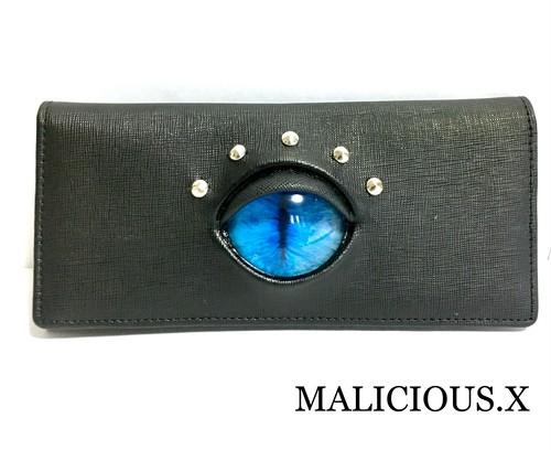 cat eye wallet / blue