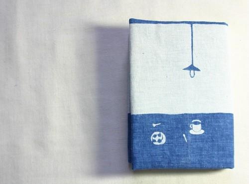 藍染め ブックカバー 「From cup of coffee」