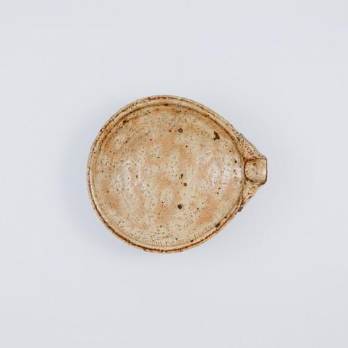 黄粉引平片口小鉢