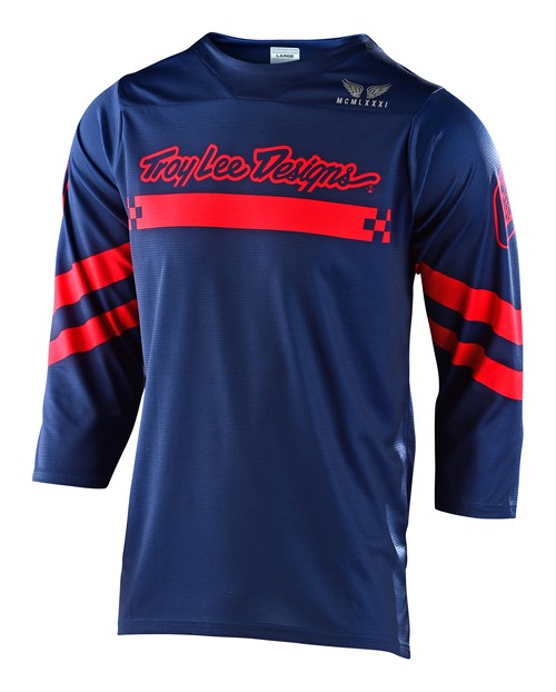 20TLD_RUCKUS JERSEY 3/4 SLEEVE FACTORY NAVY / RED