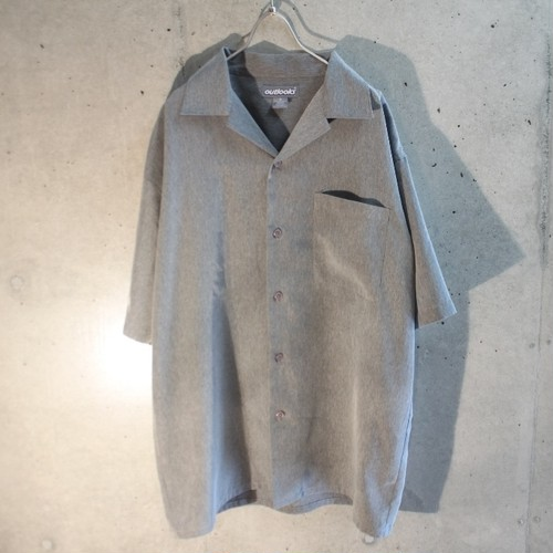Gray Polish Open Collar Shirt