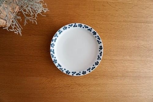 砥部焼/5.5寸リム付皿/青小紋/すこし屋