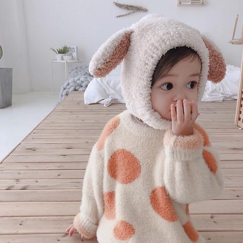 【予約】小さなお耳あったか帽子