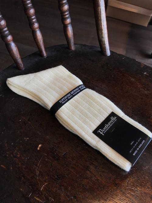 Pantherella Merino wool socks CREAM