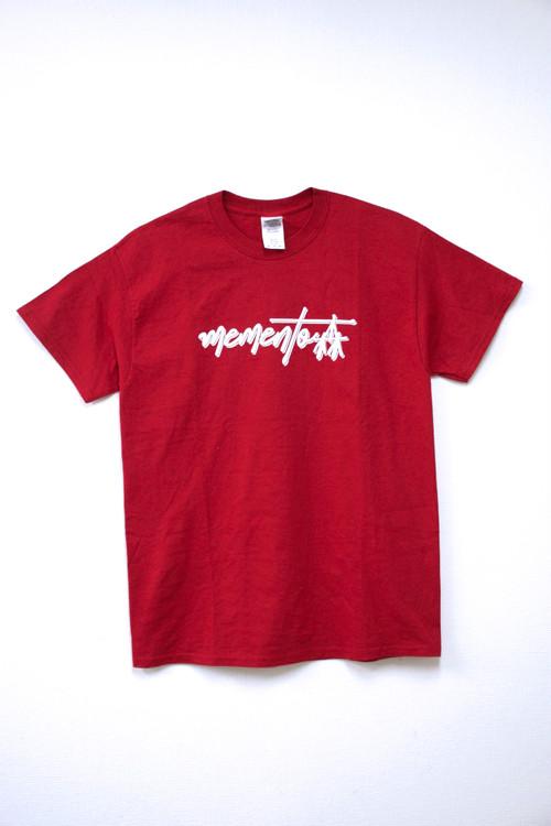 memento森ロゴTシャツ(RED)